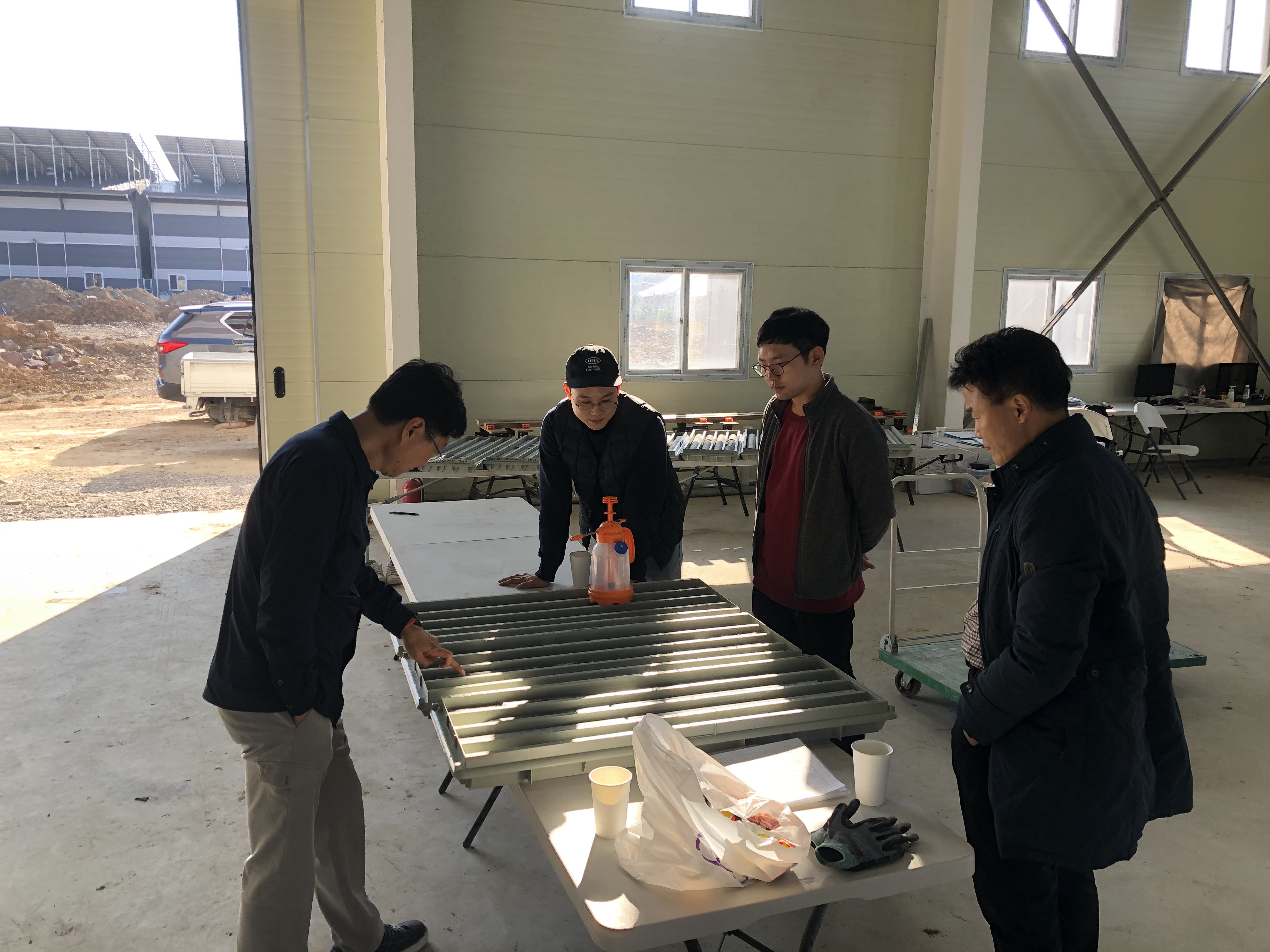 Southern Gold Korea team in core shed